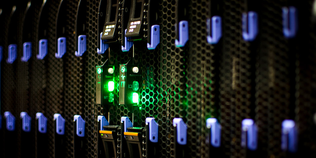 Data center blades close up via Bob Mical/Flickr